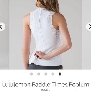 Lululemon Paddle Times Peplum
